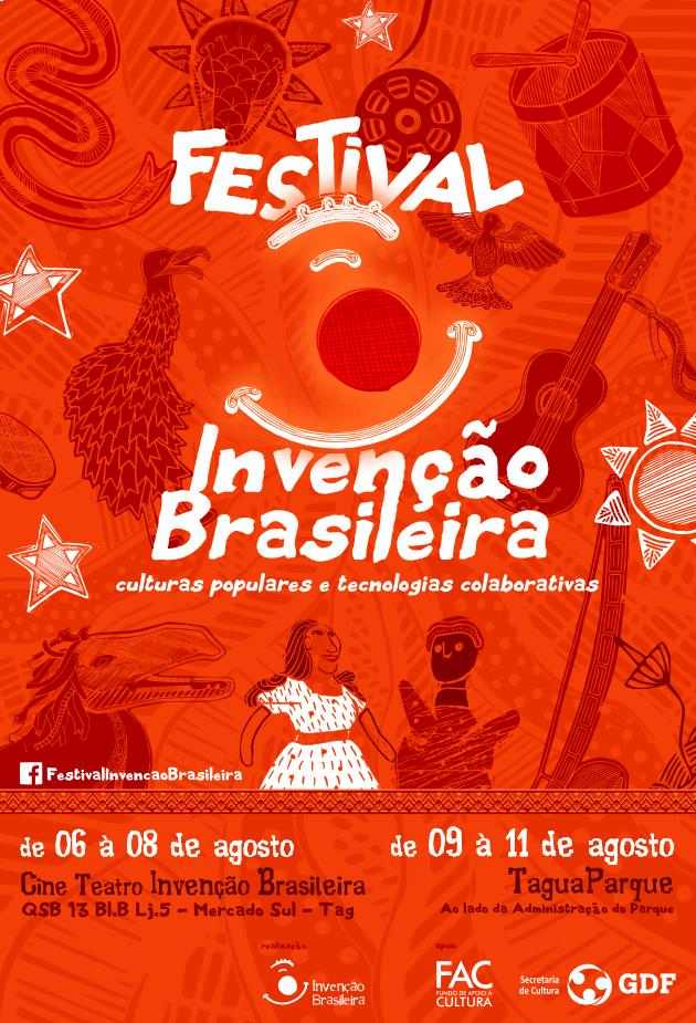 cartaz Festival Invenção Brasileira